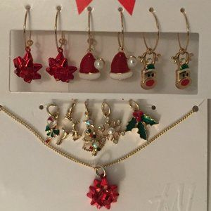 Xmas Holiday Earrings, Necklace, Pendants Charms